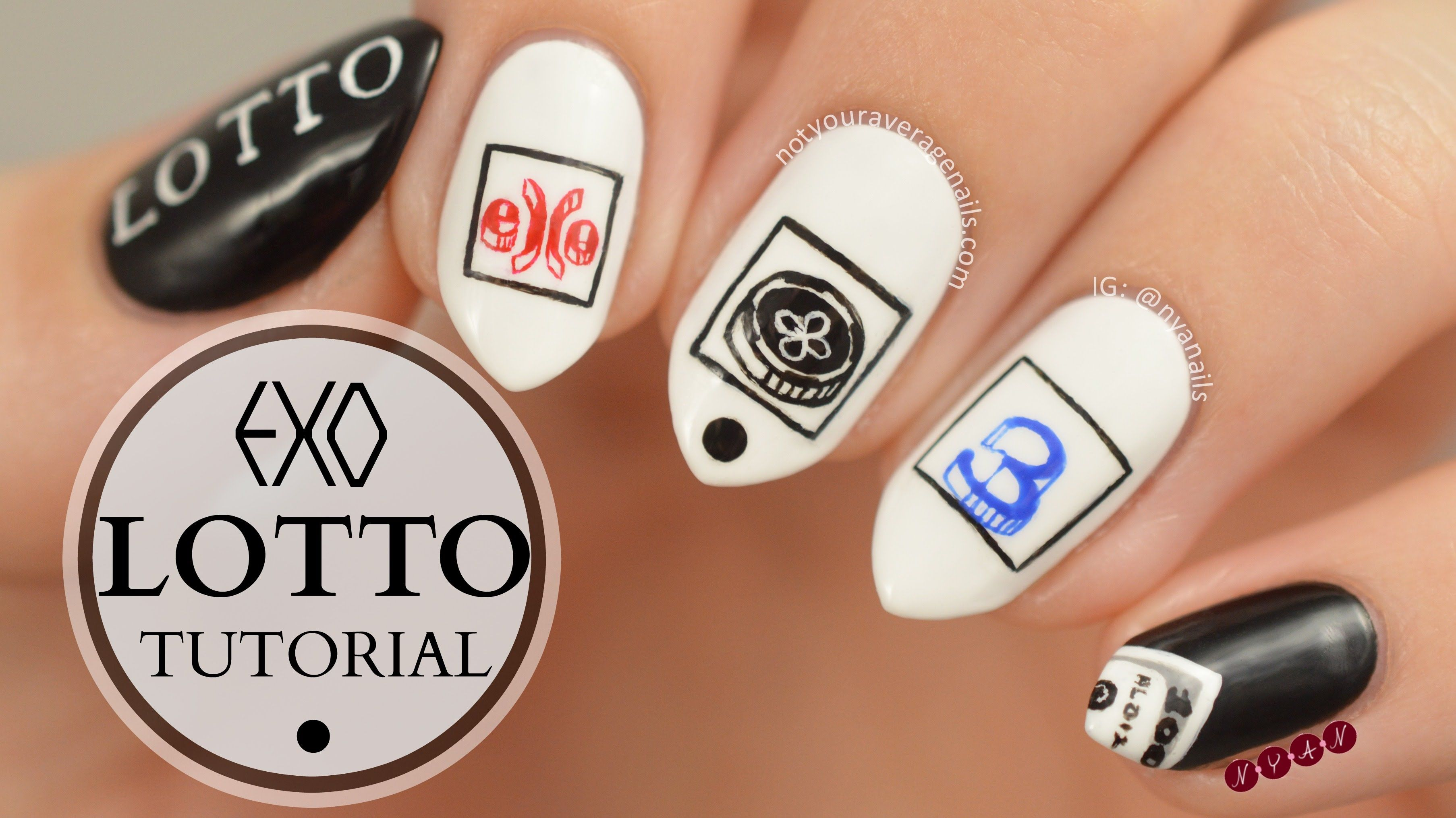 EXO #Lotto Inspired Nail Art Tutorial | Nails | Pinterest | Art ...