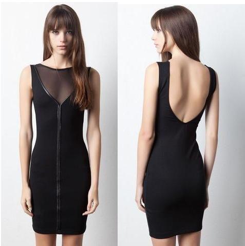 Provocativo,Sexy y sencillo. Complemento ideal: con una chaqueta o americana, tacones altos o bailarinas  vestido-transparencia-Pull-and-Bear-20-euros.jpg (477×479)