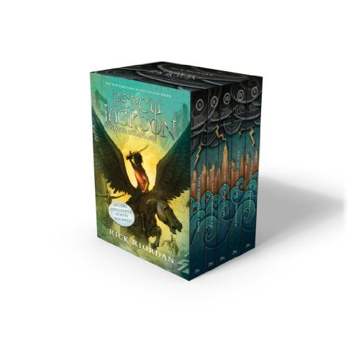 Percy Jackson And The Olympians 5 Book Paperback Boxed Set New