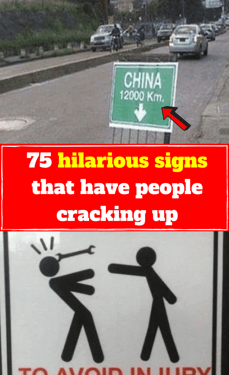 """Latest Funny Signs 75 hilarious signs that have people cracking up Look on the internet for """"funny signs"""" and you'll find dozens of them on various websites. There's nothing like passing a sign in the street that makes you crack up 75#hilarious#signs#that#have#people#cracking#up# 10"""