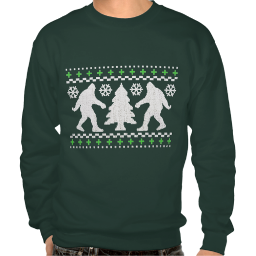 Ugly Holiday Saquatch Christmas Sweater #funny #ugly #sweater ...