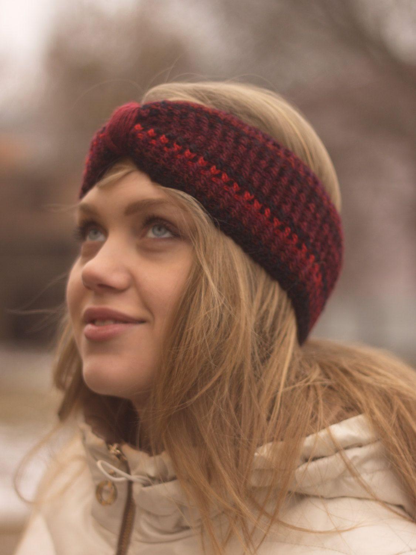 59386acf3a7 Knitted Headband Ear Warmer Cable headband Hair Band