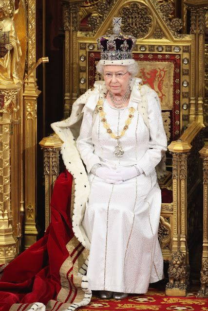 Her Majesty during a State Opening of Parliament