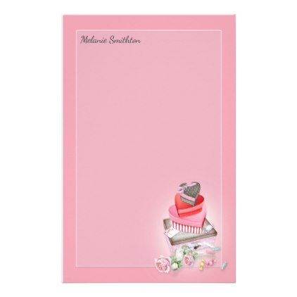Custom Pink Red Valentine\'s Heart Candy Boxes Stationery ...