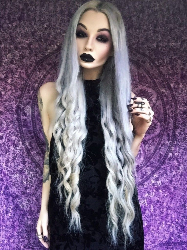 24 Dyed Hairstyles you Need to Try | Nu goth, Alternative and Black