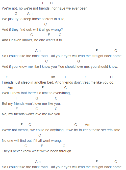Ed Sheeran Friends Chords Capo 4 Lovely Music Pinterest Ed