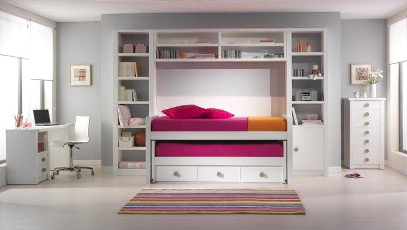 Nos gustan las habitaciones lacadas en blanco y una bonita - Literas lacadas en blanco ...