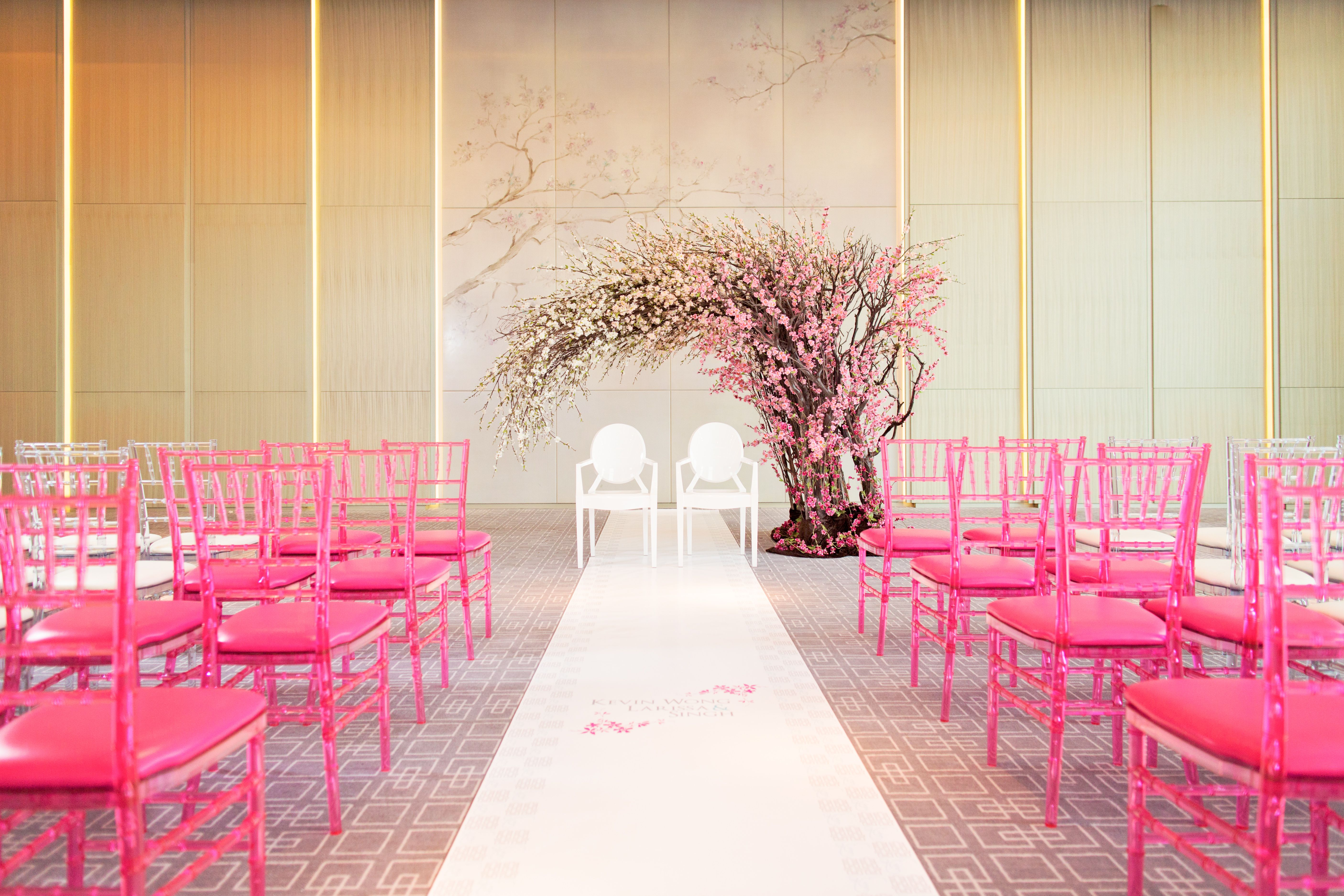 Pretty in Pink in our Vinci Ballroom | ♥ Bridal Companies & Wedding ...