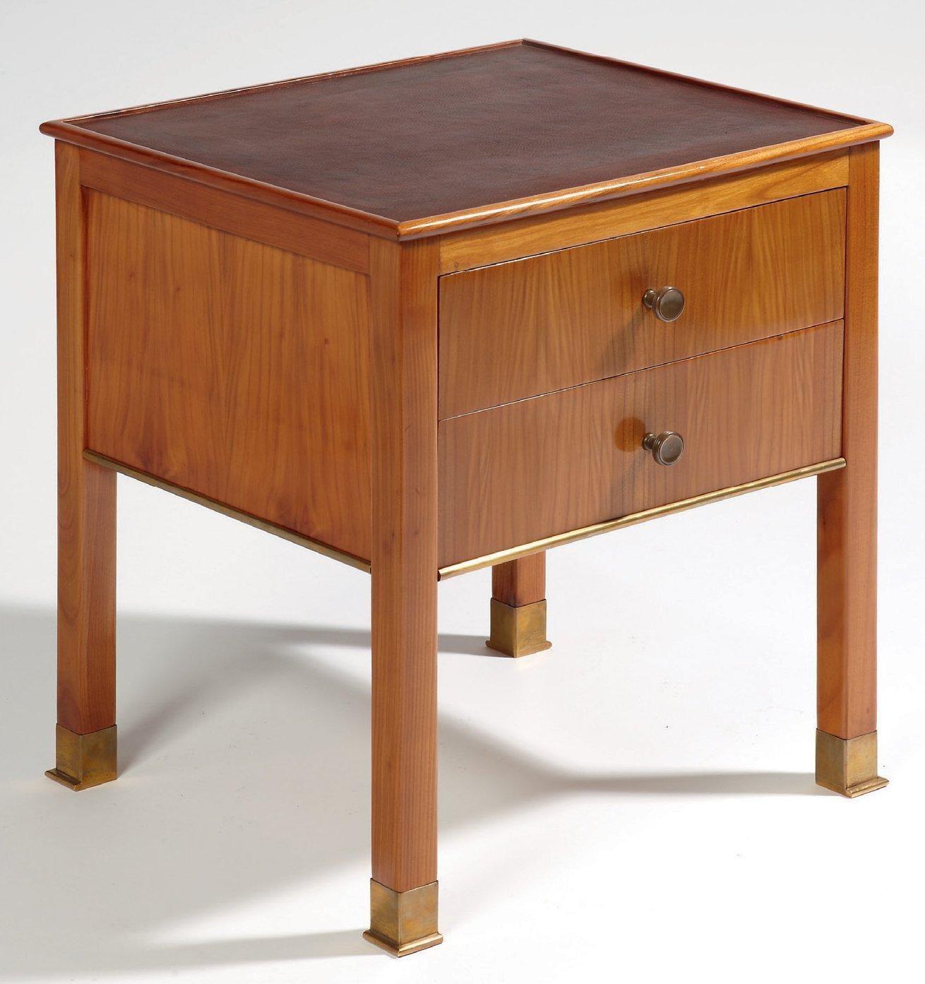 paul duprÉ-lafon (1900-1971) table d'appoint table en placage de