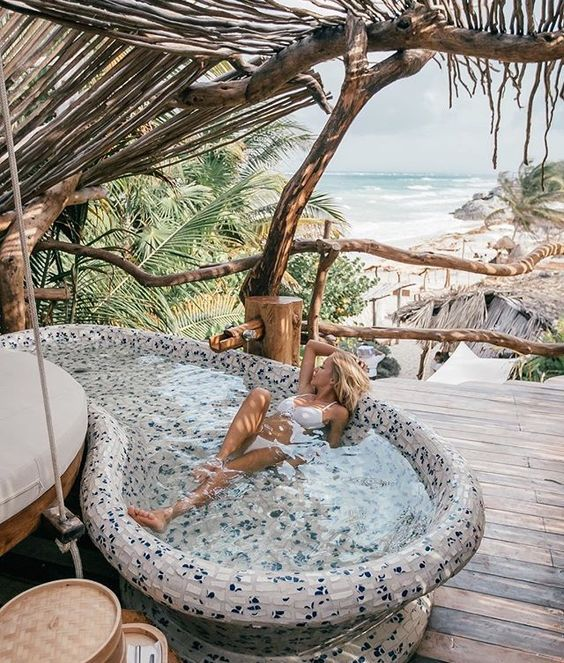 Natural Bathtubs From Rock My Home Is My Imaginarium