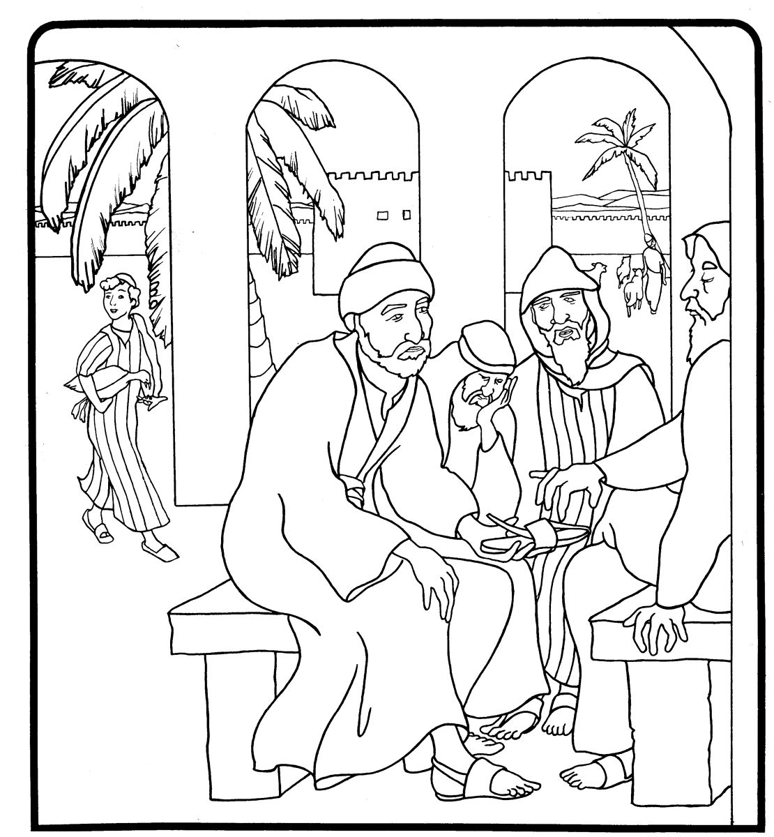 Boaz And Ruth Coloring Pages – iconcreator.info