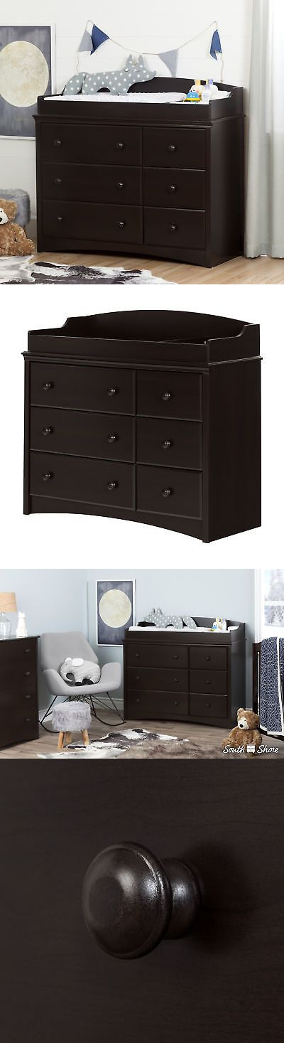 Changing Tables 20424: South Shore Angel Changing Table Dresser Espresso  Brown With 6 Drawers  U003e BUY IT NOW ONLY: $298.9 On EBu2026