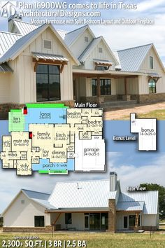 Architectural designs house plan wg client built in texas br ba sq ft ready when you are where do want to build also rh pinterest