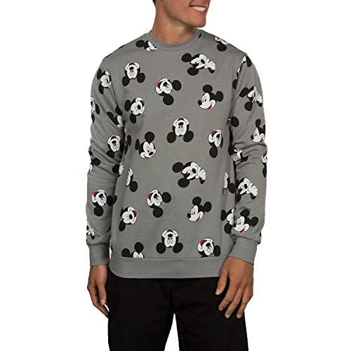 d713a44540 New Disney Mickey Mouse Heads All-Over Graphics Crew Fleece Sweatshirt. men  fashion hoodie sweatshirts   27.00 - 34.95  from top store topoffergoods