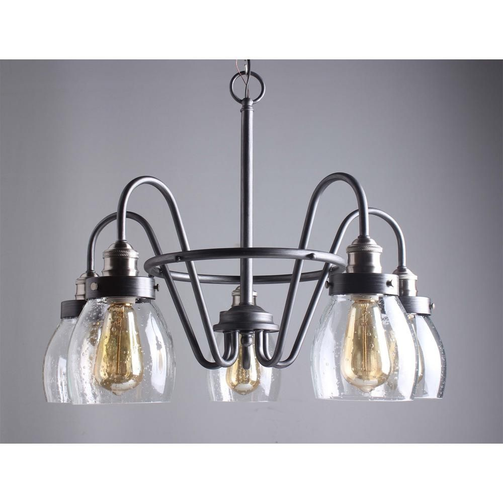 chandelier seeded glass progress lighting