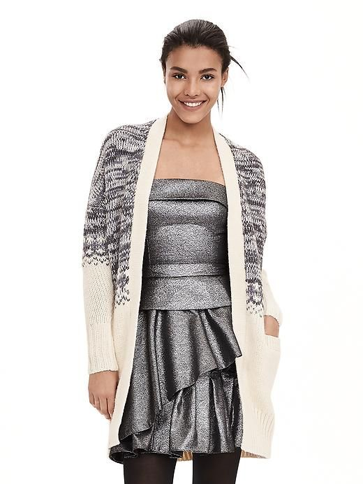 Blocked Fair Isle Long Open Cardigan | Banana Republic | knits ...