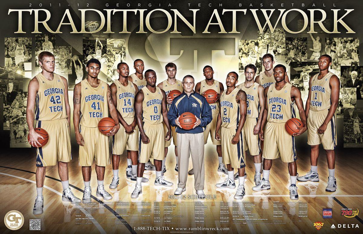 201112 Tech Men's Basketball Poster Basketball