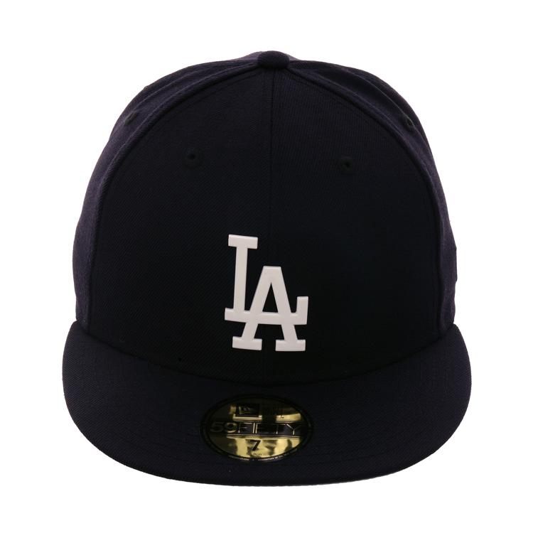 buy popular 26203 7d424 Exclusive New Era 59Fifty Metal Los Angeles Dodgers Hat - Navy,  44.99
