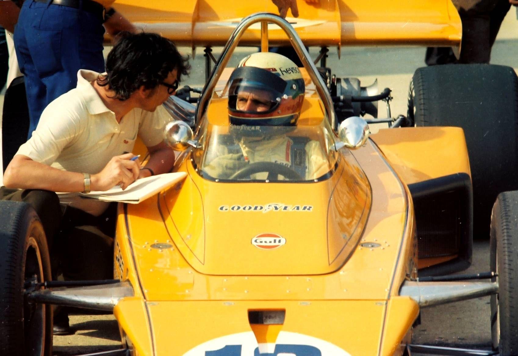 Peter Revson McLaren M16B [2] Offenhauser 159 ci turbo