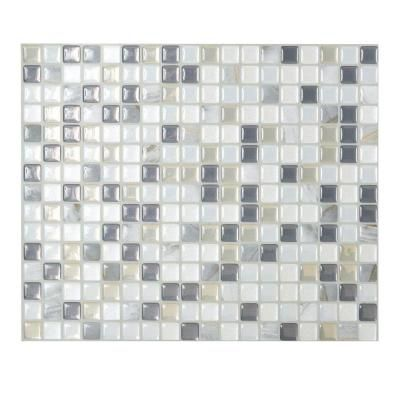 Peel And Stick Mosaic Decorative Wall Tile Smart Tiles Minimo Noche 1155 Inw X 964 Inh Peel And Stick