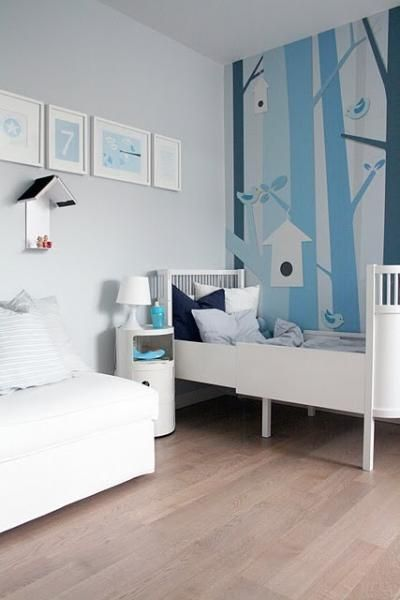 Blue And White Kids Room Clean And Simple Interer Deti Detskie