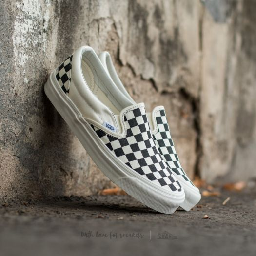 f49365a3b1 Vans OG Classic Slip On LX (Canvas) Black  White Checkerboard - Footshop