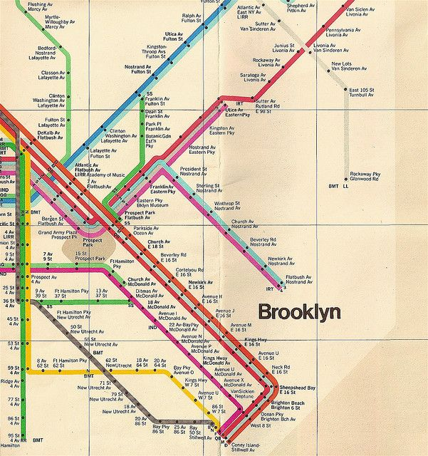 New York Subway Map Vignelli.Brooklyn Graphic Design I Like Pinterest Graphic Design