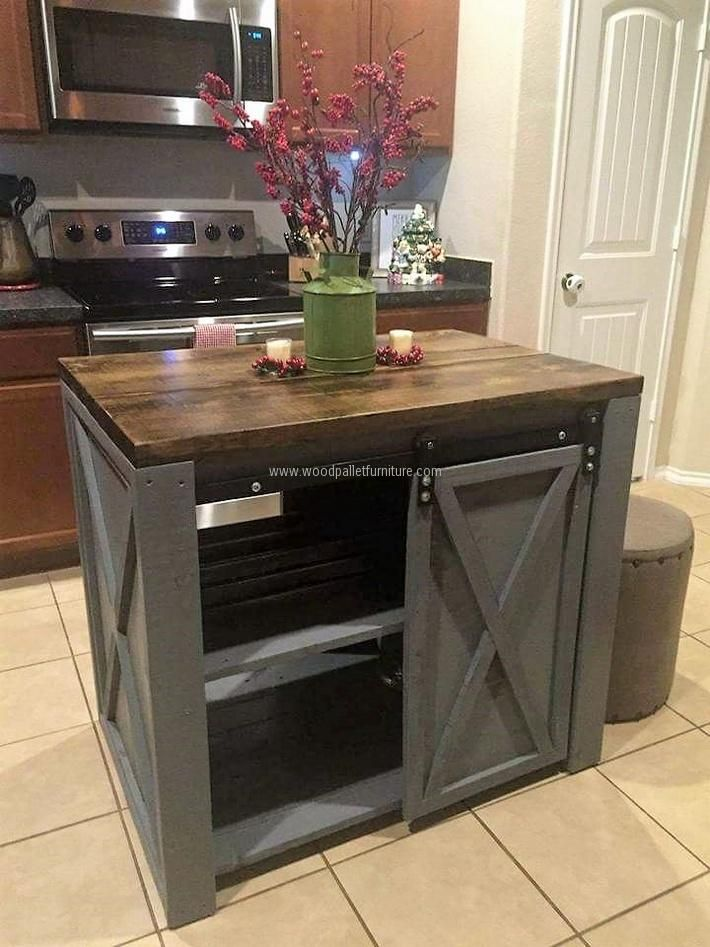 pallet kitchen island | Pallet Repurposing Ideas | Pinterest ...