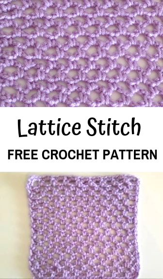 How To Crochet The Lattice Stitch Crochet Lace Pattern Crochet Stitches For Beginners Crochet Stitches Tutorial