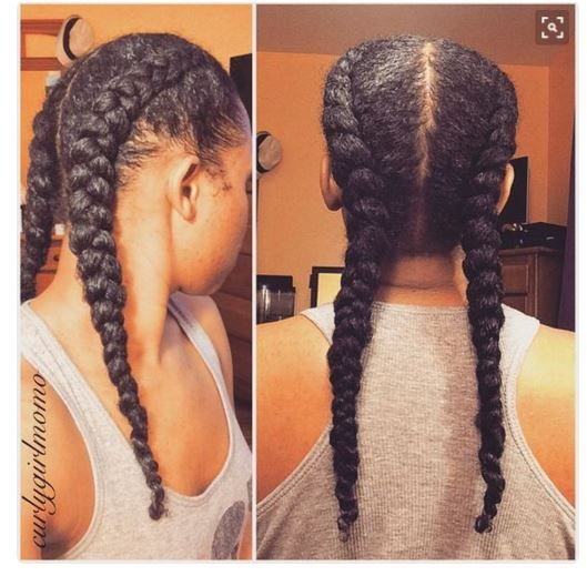 Dutch Braids Are Classic Protective And These 9 Women Are Rocking Them Beautifully Gallery Black Hair In Hair Styles Curly Hair Styles Natural Hair Styles