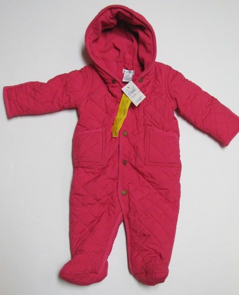 Brand New Baby Girl Pink Ralph Lauren Quilted Snow Suit 9m | Snow ... : quilted snowsuit for baby - Adamdwight.com