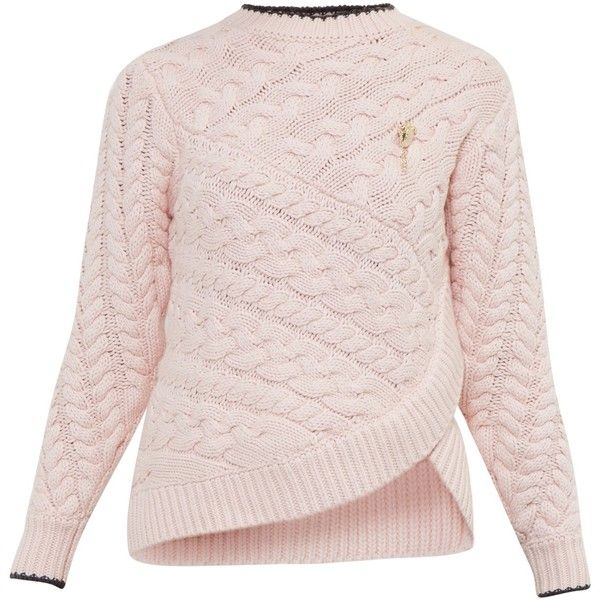 Ted Baker Colour By Numbers Charo Cable Knit Wrap Jumper (625 RON ...