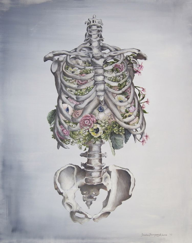 Beautiful Anatomical Illustrations Intertwine the Human Body with ...