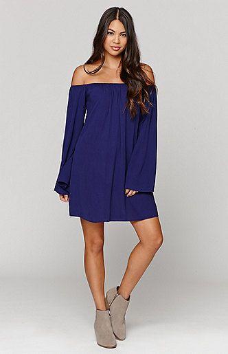 Bell Sleeve Shoulder Dress
