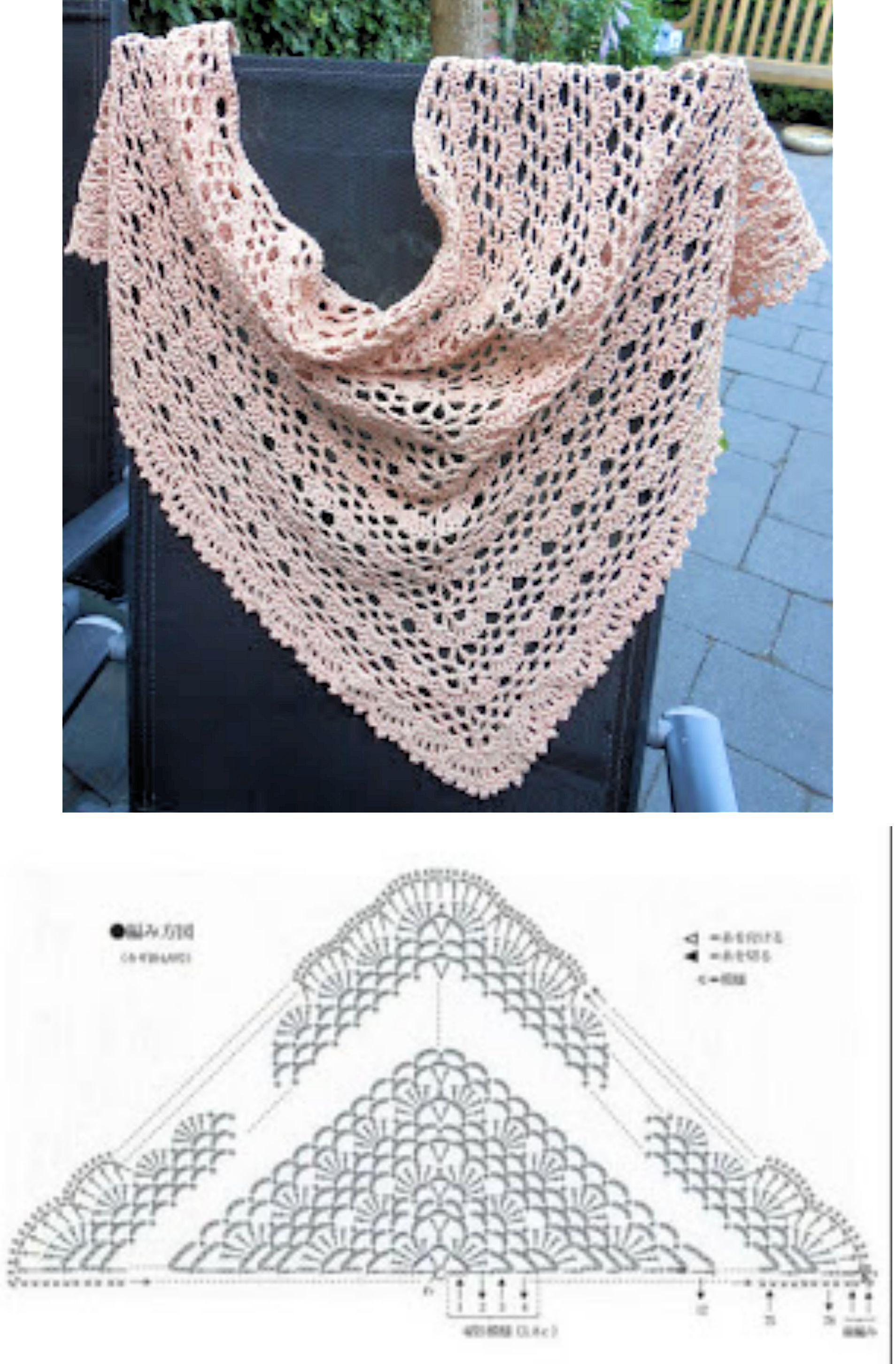 Pin von Bianca BZH auf Châle crochet   Pinterest   Tücher ...