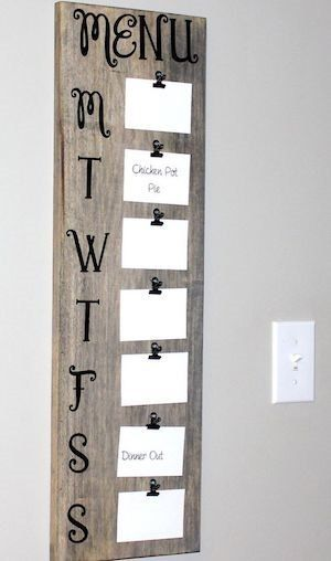 DIY Rustic Farmhouse Menu Board Wall Decor - Haus Dekoration