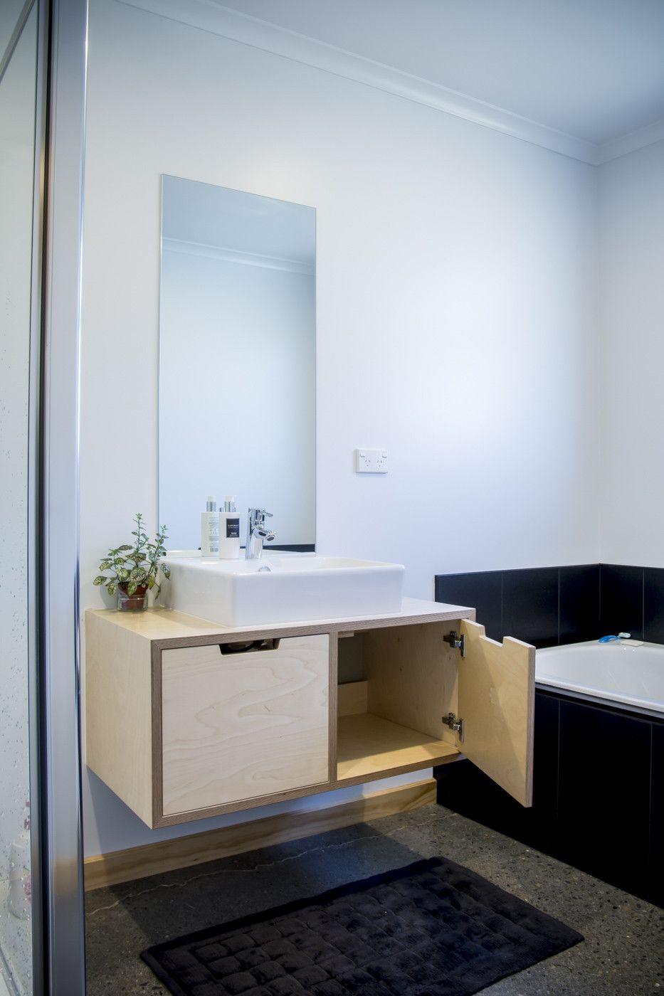 2 Door Birch Plywood Vanity Wall Hung Bathroom Vanities Plywood