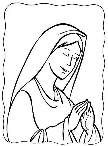 Dibujos Catolicos Imagenes De Maria Haciendo Oracion Para