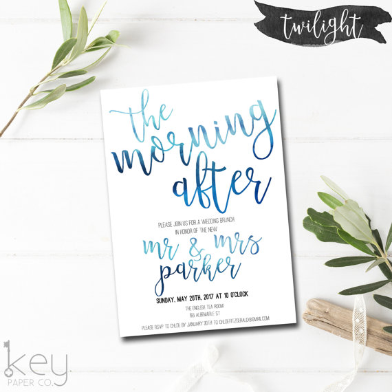 The Morning After Post Wedding Brunch Invitation Wedding Brunch Invitation Wedding Brunch Invitations Brunch Invitations Post Wedding Brunch Invitations