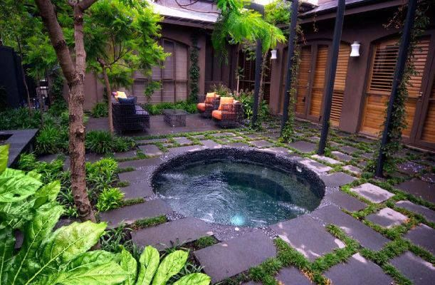 Home made jacuzzi-small pool in 2019   Hot tub backyard ...