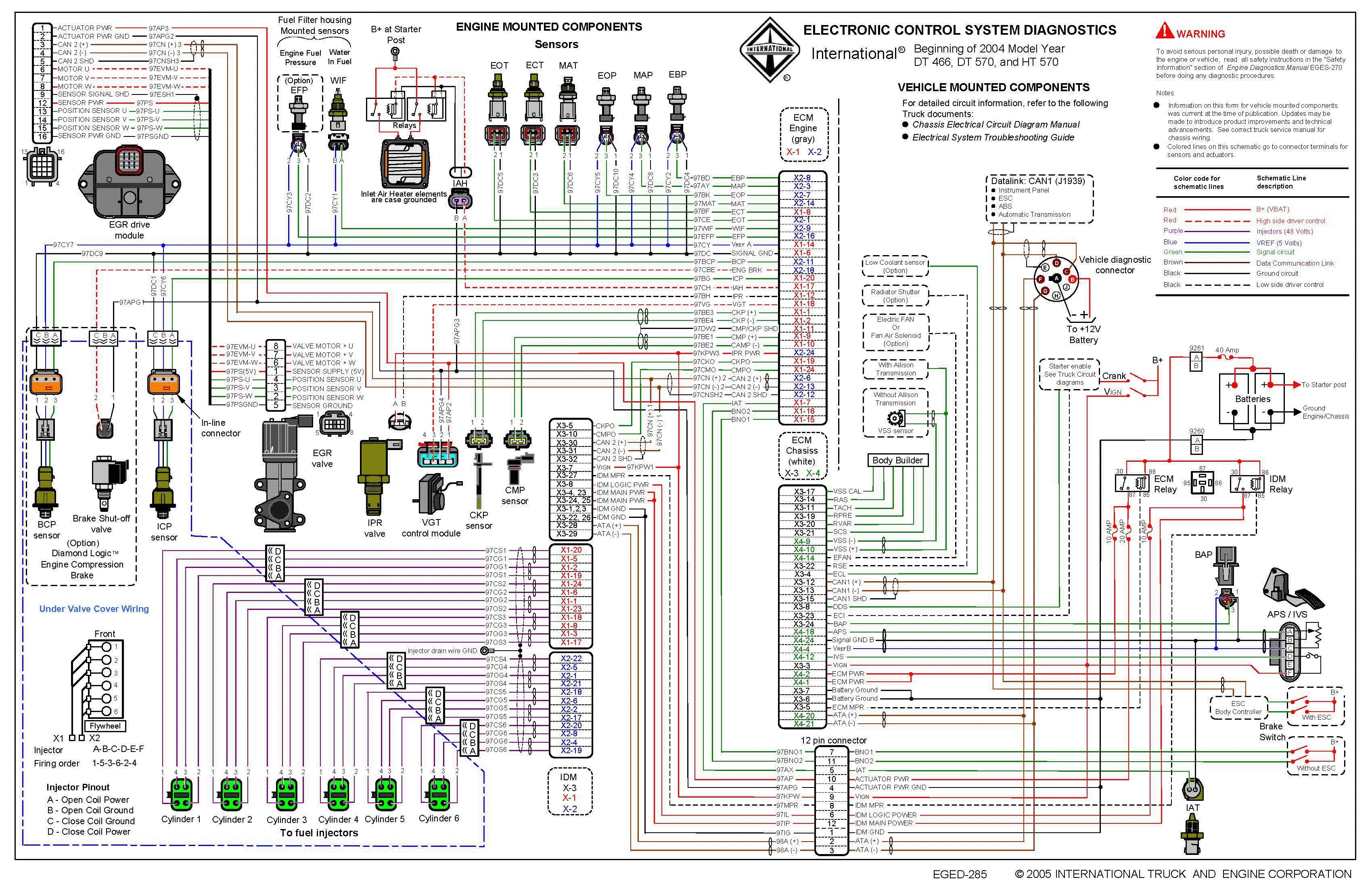 Ih Truck Wiring Diagram With Images Powerstroke Engineering