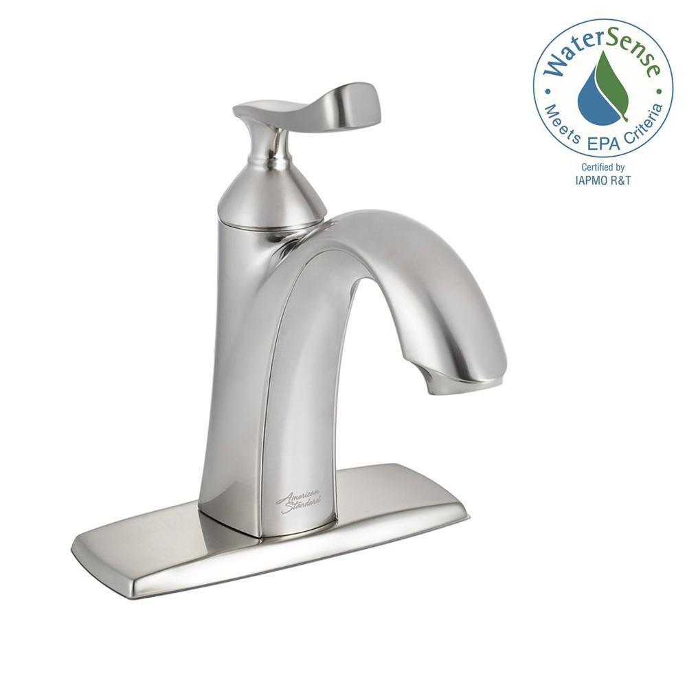 American Standard Chatfield Single Hole Single Handle Bathroom Faucet In Brushed Nickel 7413101 295 Bathroom Faucets Single Handle Bathroom Faucet Faucet