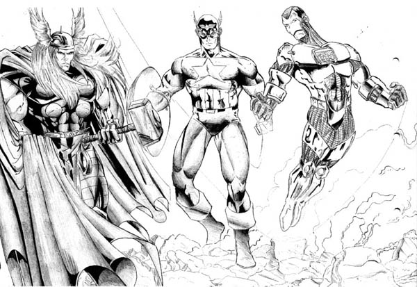 Thor And Captain America And Iron Man In The Avengers Coloring Page Download Print Online C Avengers Coloring Avengers Coloring Pages Online Coloring Pages