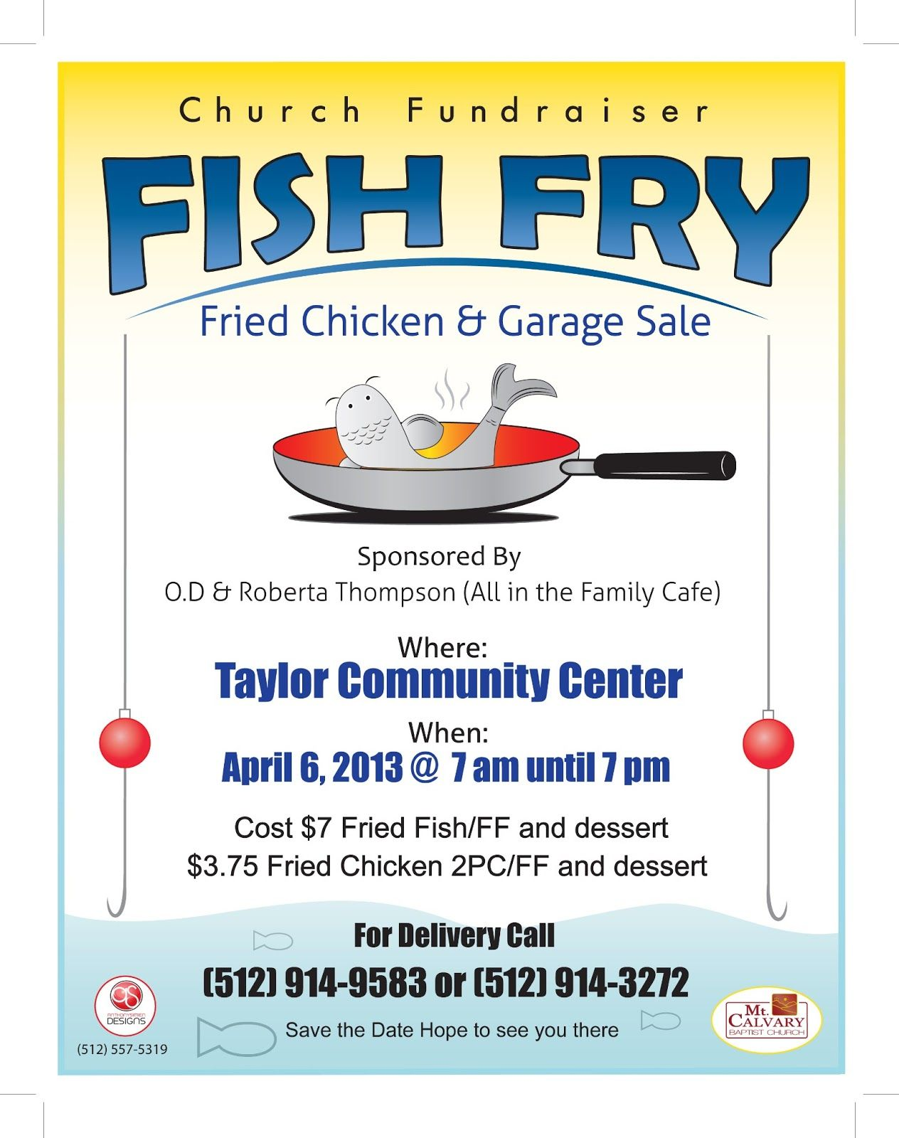 fish fry flyer template to add anthony simien church activities