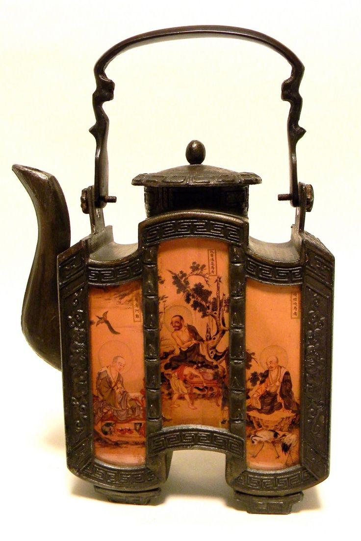 CHINESE__Raro bule antigo de porcelana chinesa …