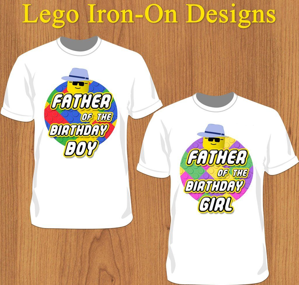 Father Lego Birthday Boy or Girl Shirt - Print-Ready Template ...