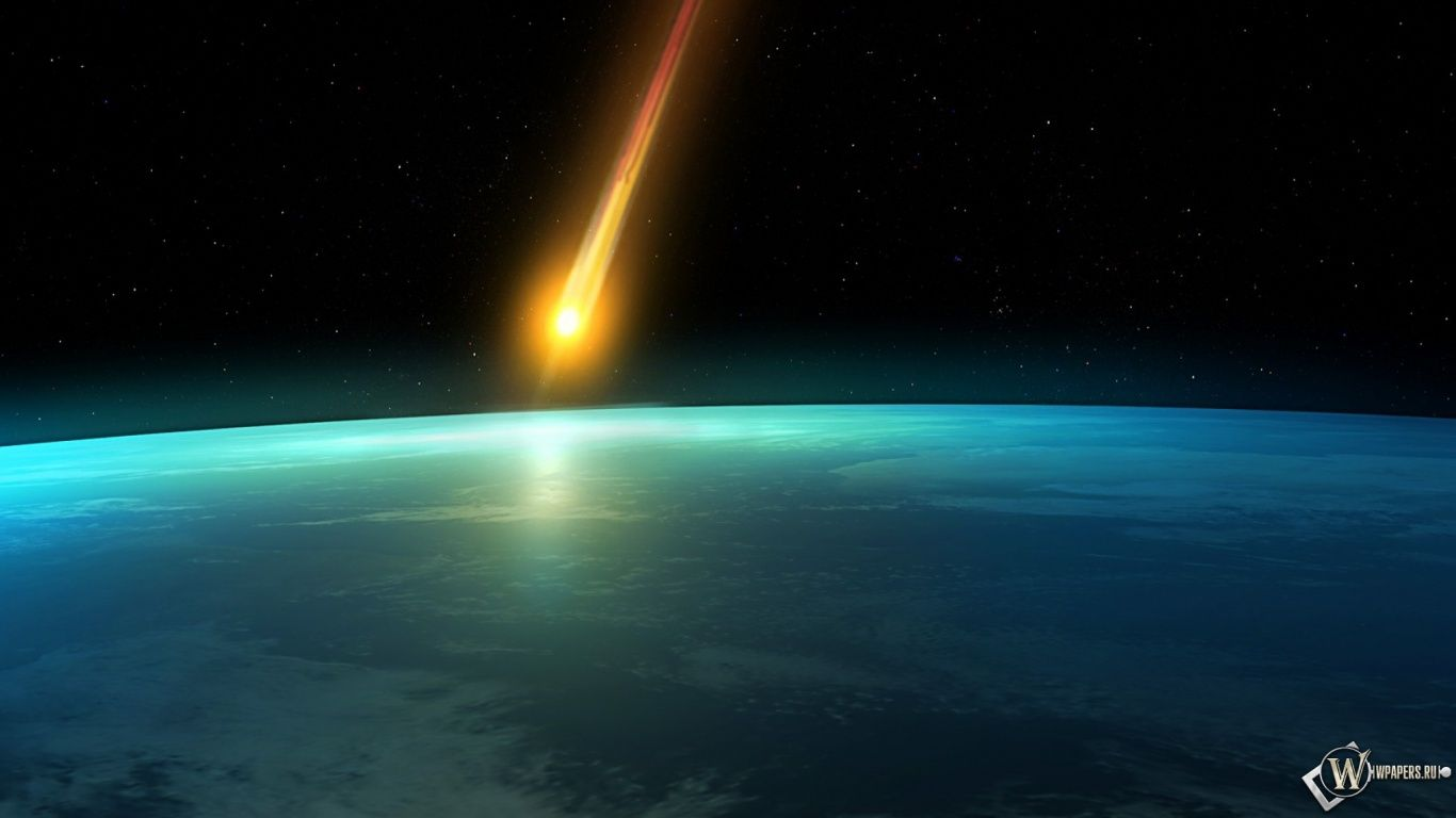Meteor Space Earth Meteorite Fall Hd Wallpapers 1366x768