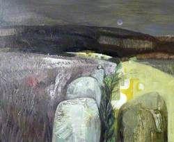 Dartmoor Stone Row Devon Contemporary Landscape Painting Contemporary Art Artists Landscape Art