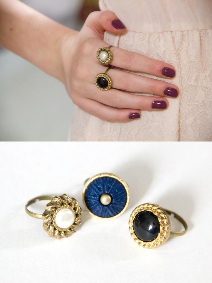 Button Rings ::: Top 10 Best DIY Rings