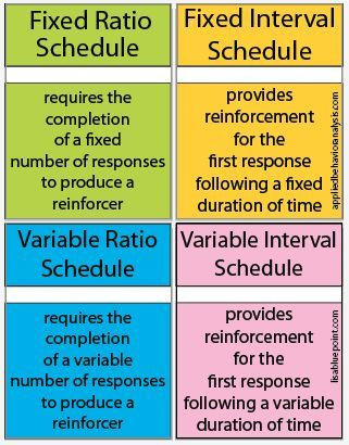 schedules of reinforcement | BCBA | Aba training, Aba ...